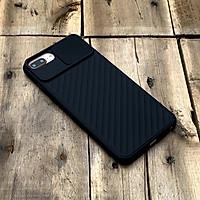 Ốp lưng kéo nắp camera cao cấp màu đen dành cho iPhone 7 Plus / 8 Plus