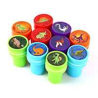 10 PCs Assorted Dinosaur Stamps Kids Party Favors Event Supplies for Birthday Party Gift Toys Boy Girl Pinata Fillers