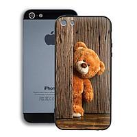 Ốp lưng mẫu đẹp cho điện thoại Iphone 5 / 5S - Viền dẻo - 02002 0136 TEDDY - Gấu Teddy - Hàng Chính Hãng