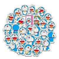 Bộ 61 miếng Sticker hình dán Đô rê mon