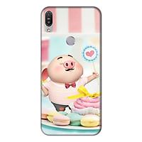 Ốp lưng điện thoại Asus Zenfone Max Pro M1 hình Heo Con Ăn Bánh