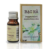 Tinh dầu Bạc hà thương hiệu Làng Hạ 10ml (Peppermint oil): Giúp thông mũi, giải cảm