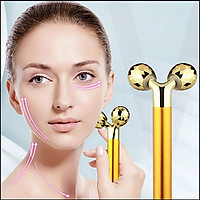 Máy (cây lăn) massage nâng cơ mặt, cằm Vline 3DEnergy Beauty Bar - Gold