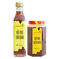 Combo Thực Phẩm Chức Năng Mật Ong Thiên Nhiên Honeyboy (1kg) Và Mật Ong Sữa Chúa Honeyboy (250ml)