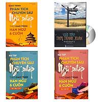 Combo 4 sách: Giáo trình phân tích chuyên sâu Ngữ Pháp theo Giáo trình Hán ngữ 6 cuốn + Bài tập tập 1 (Hán 1-2-3-4) + Bài tập tập 2 (Hán 5-6) và Gửi tôi thời thanh xuân song ngữ Trung việt có phiên âm có MP3 nghe + DVD tài liệu