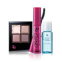 Bộ trang điểm, tẩy trang mắt môi Za ( Killer Volume Curl Mascara BK999+ Killer Big Eyes BR73 + Eye & Lip Remover)