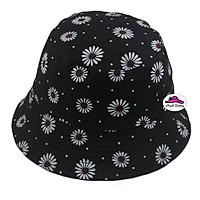 Mũ bucket tai bèo nữ họa tiết hoa cúc họa mi thời trang, vành rộng chống nắng - Hạnh Dương