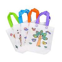 3 Túi xách vải kèm bút lông cho bé tập tô màu