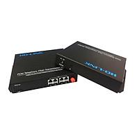 Bộ chuyển đổi quang thoại 4 Kênh J11  ( gồm 2 chiếc,2 adapter) Ho-link HL-4PCM-20T/R - Hàng Chính hãng