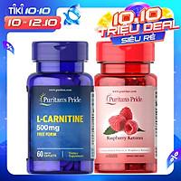 Combo hỗ trợ giảm cân TỰ NHIÊN  Raspberry ketone& L-carnitine cho cơ địa khó giảm