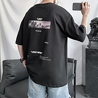 3 Color【M-3XL】Summer New Style Fashion Printed Graphic Short Sleeve T-shirt Men Breathable Unisex Half Sleeve T-shirt Oversize Student Short T-shirt Couple Wear