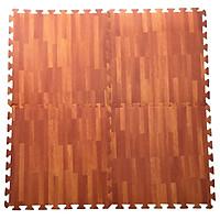 Bộ 4 tấm Thảm xốp chống trơn trượt Thoại Tân Thành hình vân gỗ đậm (60x60cm)