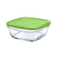 Hộp thực phẩm thủy tinh cường lực Pháp Duralex Freshbox Nắp Xanh Green 300ml