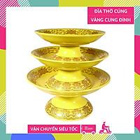Đĩa thờ dĩa trái cây thờ cúng vàng cung đình đặt lễ gốm sứ cao cấp - Nhiều cỡ
