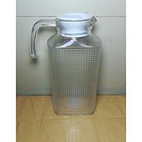 set 1 bình thủy tinh1.8l tặng kèm 3 cốc cao ( bình để vừa cánh cửa tủ lạnh)