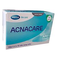 Viên uống hỗ trợ cải thiện mụn, làm đẹp da Acnacare (3 x 10 viên nang mềm)