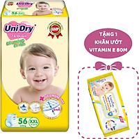 Tã Quần Siêu Mỏng UniDry Ultrathin Gói Cực Đại size XXL56 (56 miếng) - Tặng 1 Gói Khăn Ướt UniFresh VitaminE 80M