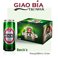 Bia Becks Xanh Thùng 12 Lon 500ml