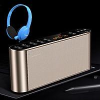 Loa Bluetooth Không Dây Q8, Kiêm Đài FM, Phím Bấm Cảm Ứng Siêu Nhạy + Tặng Tai Nghe Chụp Tai  Cao Cấp
