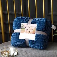 Chăn lông cừu ULTIMATE chữ vạn - màu xanh lam