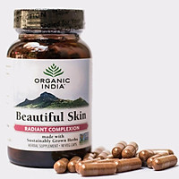 Viên uống trắng da làm đẹp da phục hồi thanh lọc cơ thể Organic India Beautiful Skin, 90 viên