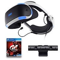 Combo Kính Thực Tế Ảo Playstation VR Sony (V2) Kèm 3 đĩa game Gran Turismo , Fun Pack và Playstation Vr Worlds - Hàng Chính Hãng