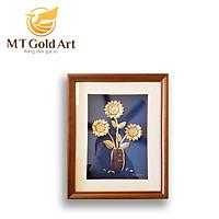 Tranh hoa hướng dương (25x32cm) MT Gold Art- Hàng chính hãng, trang trí nhà cửa, phòng làm việc, quà tặng sếp, đối tác, khách hàng, tân gia, khai trương