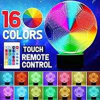3D Football 16 Color Adjust LED Night Light USB Lamp 4 Mode W/ Remote Control