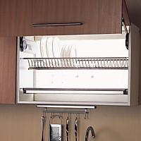 Kệ úp chén dĩa 2 tầng inox SS304 chính hãng cho tủ bếp trên