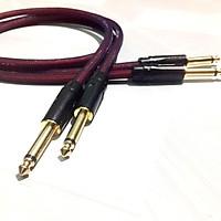 Dây Jack 6 ly, 02 dây 1m 02 đầu Jack 6,5ly dây tín hiệu âm thanh Jack 6,5mm