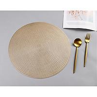 Combo 2 tấm lót bàn ăn hình tròn xoáy đều KT 38cm - LT02