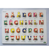 10 Bảng đồ chơi ghép gỗ có núm cho bé  Mã 021