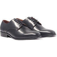 Giày nam buộc dây, phong cách giày tây công sở Plaintoe Derby H1PD1M0 da bò Ý, chính hãng Banuli