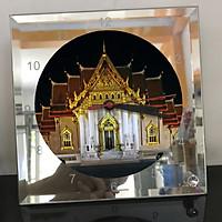 Đồng hồ thủy tinh vuông 20x20 in hình Buddhism - đạo phật (88) . Đồng hồ thủy tinh để bàn trang trí đẹp chủ đề tôn giáo