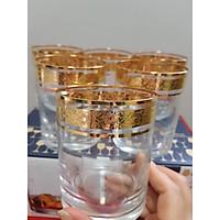 Bộ 6 cốc uống rượu mạ vàng