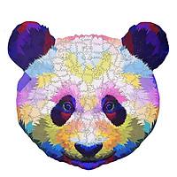 Bộ xếp hình gỗ đồ chơi ghép hình con vật, bộ xếp hình trí tuệ, quà tặng bạn bè - Gấu trúc