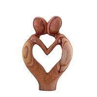 Hương vị tình yêu - tượng gỗ điêu khắc thủ công trừu tượng - quà tặng nghệ thuật trang trí nhà - bộ sưu tập love