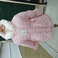 Áo khoác phao sần lót lông thỏ cho bé gái từ 4 -8 tuổi hàng Quảng Châu Cao Cấp Loại 1