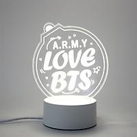 Đèn ngủ Bts in chữ ARMY LOVE BTS