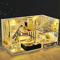 Mô Hình Lắp Ghép DIY - Biệt Thự Light ( Tặng Kèm Mica Che Bụi)