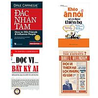 Combo Sách Kỹ Năng Sống Bán Chạy Nhất: Đắc Nhân Tâm + Khéo Ăn Nói Sẽ Có Được Thiên Hạ + Đọc Vị Thiên Hạ Lọc Những Cú Lừa + Đọc Vị Bất Kỳ Ai - Để Không Bị Lừa Dối Và Lợi Dụng (Tặng Bookmark Lông Vũ)