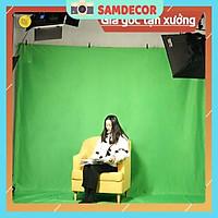 Nền xanh lá cây 100cm x 150cm vải màu xanh lá cây tách nền phông nền vải chụp ảnh