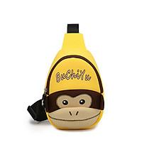 Túi đeo chéo khỉ con màu vàng