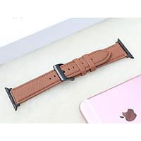 Dây Đeo Thay Thế Dành Cho Apple Watch 1,2,3,4,5,6 (Chất liêu  Da bò nhập khẩu của Pháp) nhiều màu lựa chọn