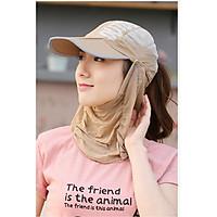Mũ khẩu trang chống nắng chống uv thời trang nón chống nắng đa năng