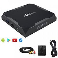X96 max 4G Ram 32G Rom đủ bộ phụ kiện IR , đế dán , cáp AV cài sẵn các ứng dụng giải trí miễn phí vĩnh viễn - Hàng Nhập Khẩu