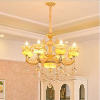 Đèn chùm RAMA pha lê trang trí nội thất sang trọng loại 8 tay - kèm bóng LED chuyên dụng.