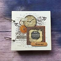 Scrapbook Handmade Retro Clock Cổ Điển