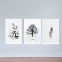 Bộ 3 tranh trang trí hiện đại
