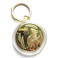 Móc khóa xu Úc con chuột màu  vàng - quà tặng độc lạ 2020 - TMT COLLECTION - MSSP000406